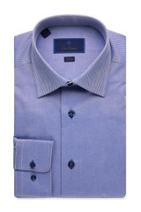 David Donahue Tonal Twill Boxes Trim Dress Shirt