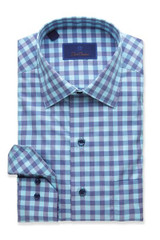 David Donahue Two Tone Bold Gingham Shirt