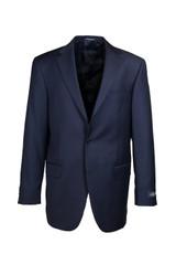 Hart Schaffner & Marx Chicago Navy Solid Flat Front Suit
