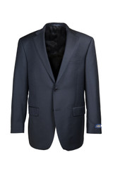 Hart Schaffner & Marx Chicago Charcoal Solid Flat Front Suit