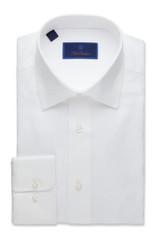 David Donahue White Royal Oxford Regular Dress Shirt