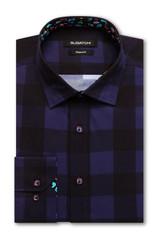 Bugatchi Black Midnight Performance Classic Shirt