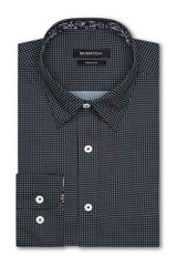 Bugatchi Black White Dot Shaped Shirt