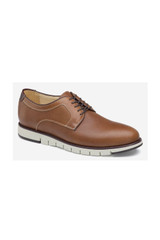 Johnston & Murphy Martell Embossed Tan Plain Toe
