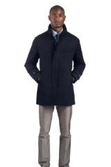 Norwegian Wool Navy Wool Carcoat