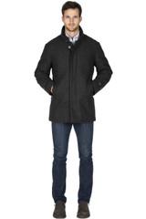 Norwegian Wool Micro Check Wool Carcoat
