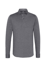 Desoto Charcoal Solid Long Sleeve Polo