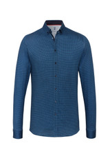 Desoto Blue Weave Print Shirt