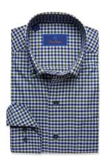 David Donahue Navy & Green Check Shirt