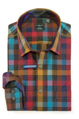 Leo Chevalier Tall Fall Multi Check Shirt
