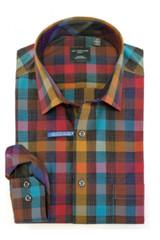 Leo Chevalier Tall Fall Multi Check Shirt
