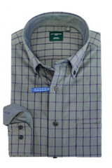 Leo Chevalier Blue & Grey Plaid Shirt