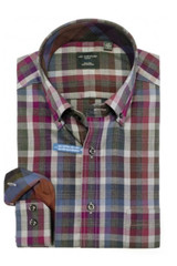 Leo Chevalier Purple & Blue Plaid Shirt