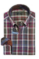Leo Chevalier Purple & Blue Plaid Shirt