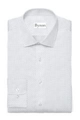 Byron Big & Tall White Mini Print Performance Shirt