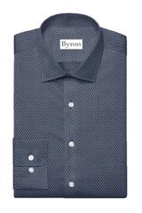 Byron Big & Tall Navy Print Performance Shirt