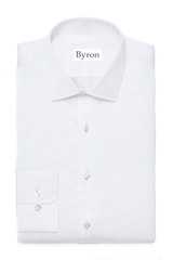 Byron Wrinkle-Resistant White Twill Dress Shirt