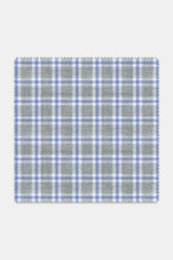 Byron Custom Grey with Blue Stacked Grid Check