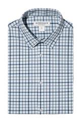 Mizzen + Main Tall Navy Aqua Multi Check Shirt