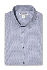 Mizzen + Main Navy Grey Geo Print Shirt