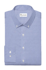 Byron Wrinkle-Resistant Blue & Brown Shadow Check Shirt