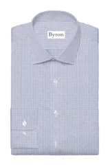 Byron Wrinkle-Resistant Stone Mini Grid Check Dress Shirt