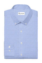 Byron Big & Tall Non Iron Blue Bengal Stripe BD Dress Shirt