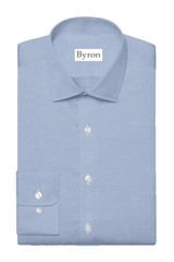 Byron Big & Tall French Blue Houndstooth BD Dress Shirt