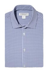 Mizzen + Main Tall Navy Purple Check Shirt