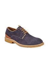 Johnston & Murphy Wagner Navy Suede Plain Toe