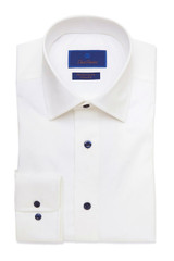 David Donahue White Performance Dress Shirt