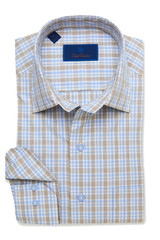 David Donahue White & Dune Plaid Shirt