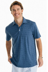 Southern Tide Wave Print Driver Performance Polo