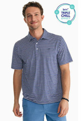 Southern Tide Striped Driver Brrr Performance Polo