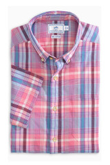 Southern Tide Leeward Madras Short Sleeve Shirt