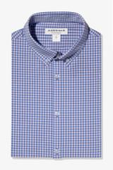 Mizzen + Main Tall Pink Blue Mini Check Shirt