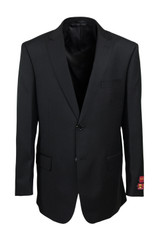 Mantoni Black Wool Suit