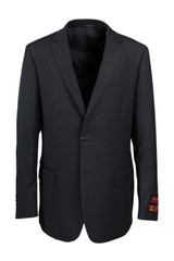Mantoni Big & Tall Charcoal Wool Suit