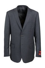 Mantoni Big & Tall Grey Wool Suit