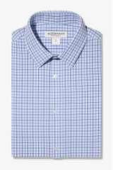Mizzen + Main Navy Blue Tattersall Shirt