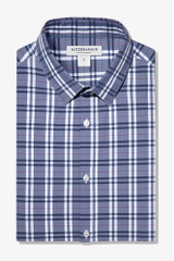 Mizzen + Main Navy Red Multi Plaid Shirt