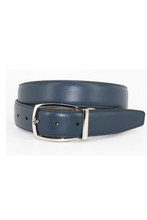 Torino Leather Co. Navy/Grey Reversible Belt