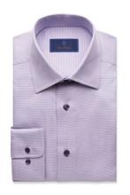 David Donahue Lilac Micro Tonal Tic Regular Dress Shirt