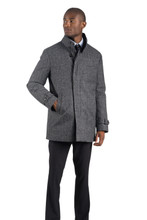 Norwegian Wool Herringbone Carcoat