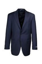 Hart Schaffner & Marx Chicago Navy Solid Pleated Suit