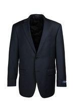 Hart Schaffner & Marx Chicago Black Solid Pleated Suit