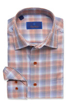 David Donahue Rust Plaid Shirt