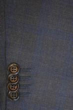 Byron Medium Blue Plaid Modern Fit Suit