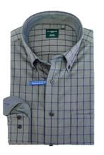 Leo Chevalier Blue & Grey Plaid Shirt