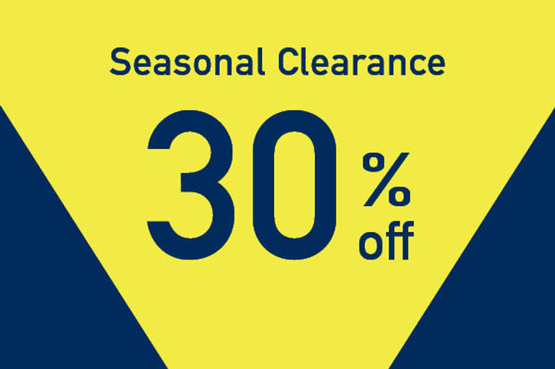 30% off Seasonal Clearance